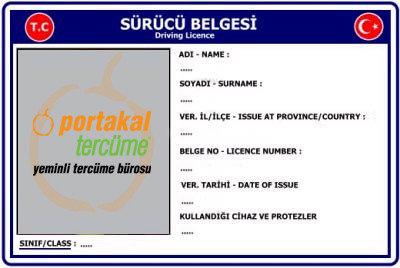 Ehliyet - Sürücü Belgesi Çeviri - Tercüme Hizmeti