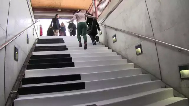 The Piano Stairs at Odenplan Metro Station Stockholm