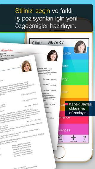cv mobile uygulamasi 1 iOS İçin Pratik CV Hazırlama Uygulaması: CV Hazırla