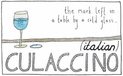 italian culaccino 490x306 Farklı Kültürlerden Tercüme Edilemeyen Sözcükler
