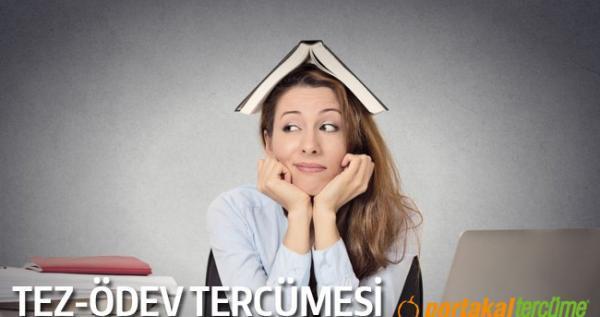 Tez, Ödev, Makale Tercümesi - Portakal Tercüme Bürosu